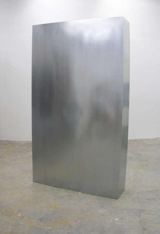 Cameron Rey - TMA-1, 2014. Galvanized Steel. Sound: Radio Static. Sound: Radio Frequency (10khz). Heat. 2100 x 1200.