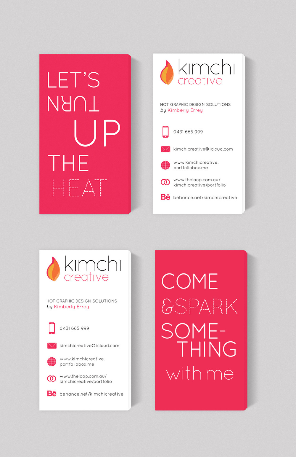 Kimberly Errey - Business Cards close-up