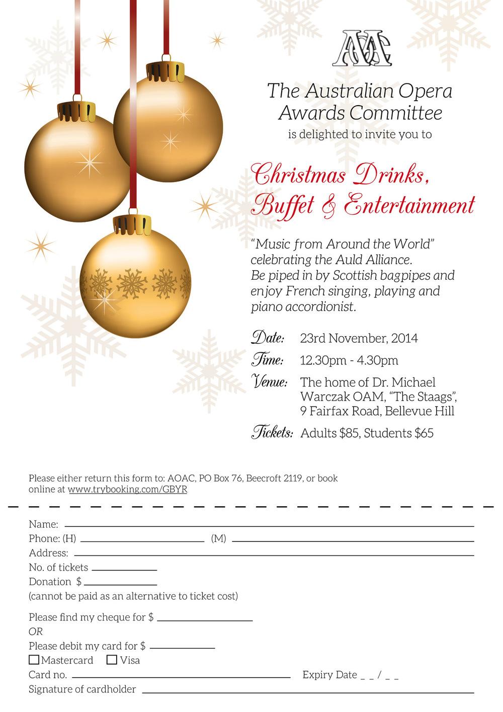 Kimberly Errey - AOAC Christmas Party Invitation artwork