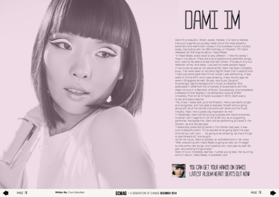 Holly Grace Fashion Stylist - Cover & Page Spread for GC MAG