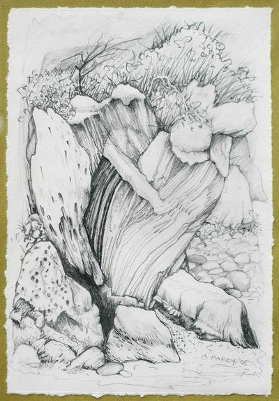 annparry art - cliff face