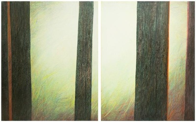 annparry art - forest edge - diptych