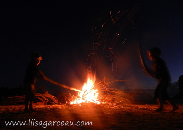 Bespoke Art by Liisa Garceau - Playing with Fire San Blas Islands.