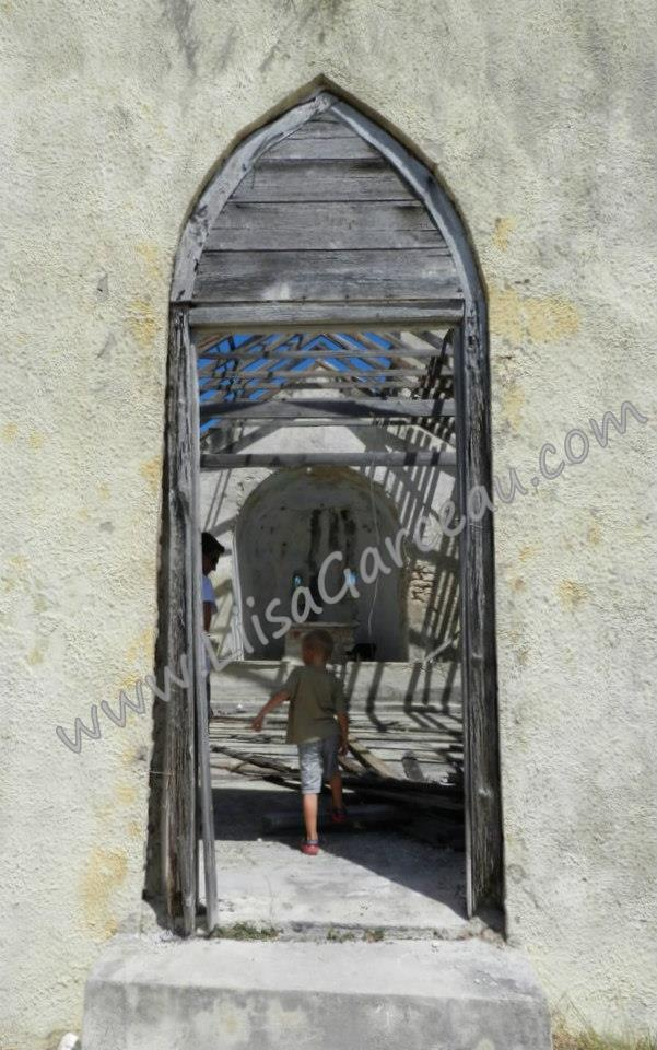 Bespoke Art by Liisa Garceau - Bahamas oldest church entrance. Long Island, Bahamas.