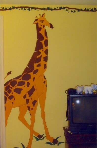 Bespoke Art by Liisa Garceau - 10 hand painted giraffe to add to the tropical/safari theme.