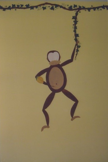 Bespoke Art by Liisa Garceau - A monkey to greet the so every morning with a smile.