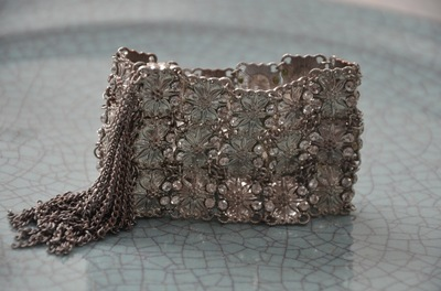 Curvaceous Design Portfolio - Chain mail cuff with Swarovski crystals