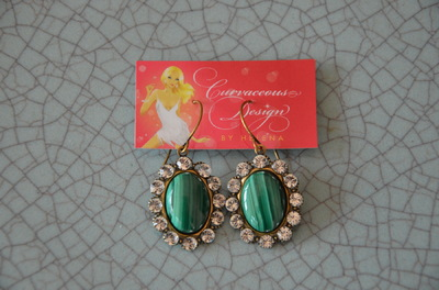 Curvaceous Design Portfolio - Stunning Gem stone earrings