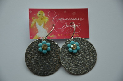 Curvaceous Design Portfolio - Victorian pressing earrings