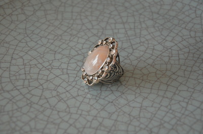 Curvaceous Design Portfolio - Custom made rose and swarovski crystal quartz ring