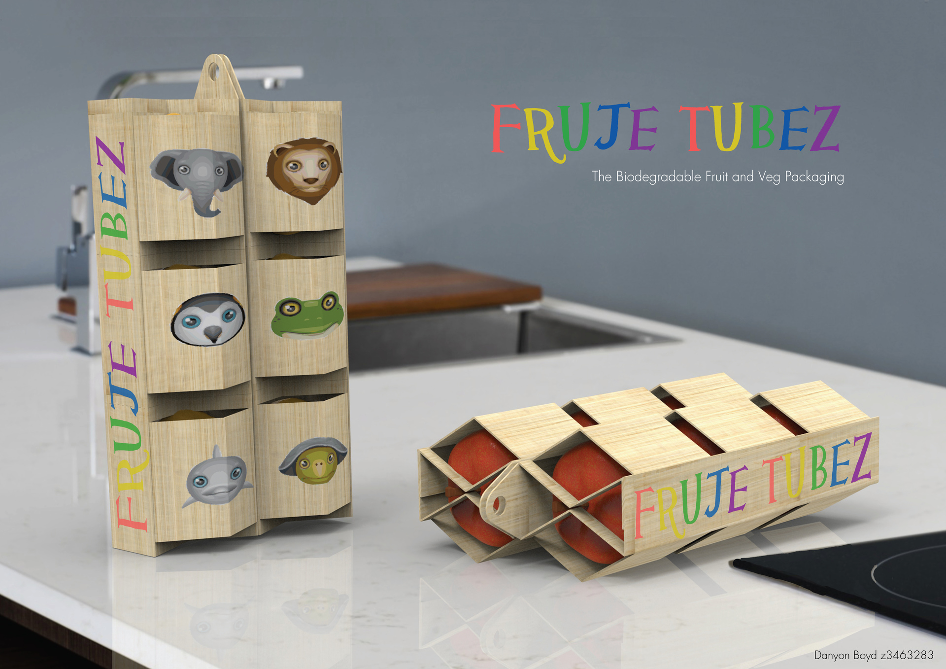 Fruje Tubez - Biomimicry Sustainable food packaging